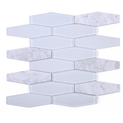 4 x 4 Marble Mosaic Tile in White