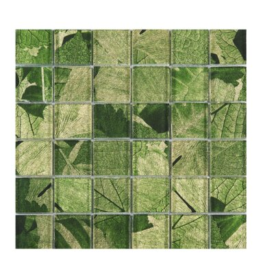 Season Series Spring 2 x 2 Glass Mosaic Tile in Green