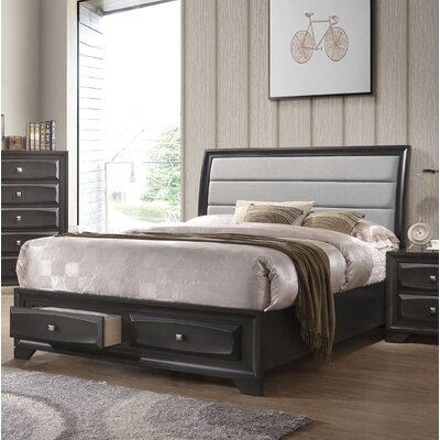 Hersacher Upholstered Storage Sleigh Bed Size: Queen