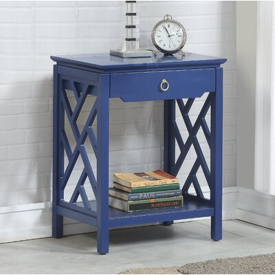 Ingraham 1 Drawer Nightstand Color: Navy Blue