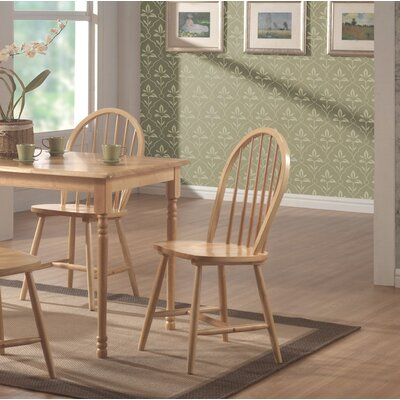 Bazan Modish Solid Wood Dining Chair Color: Natural Brown
