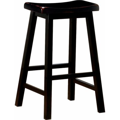 Venne 29 Bar Stool Color: Dark Brown