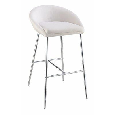 Mcdougle 30.25 Bar Stool Upholstery Color: White