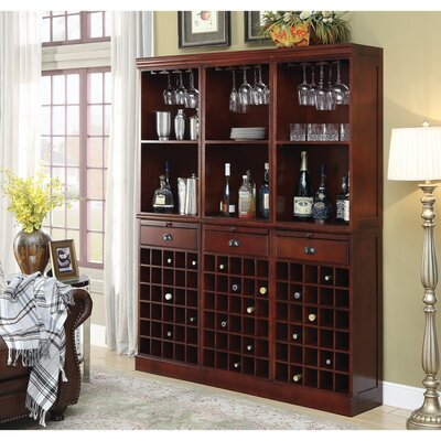 Ebro Wooden 90 Floor Wine Bottle Rack