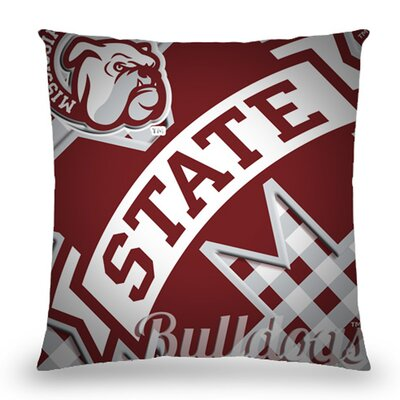 Mississippi State Bulldogs Cotton Throw Pillow