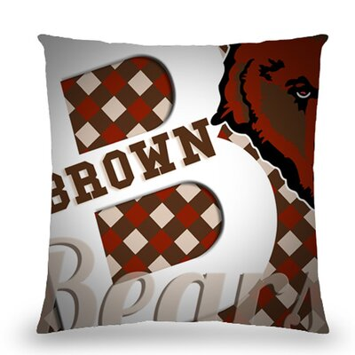 Brown Bears Cotton Throw Pillow
