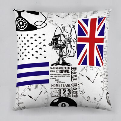 Telefono Retro Cotton Throw Pillow