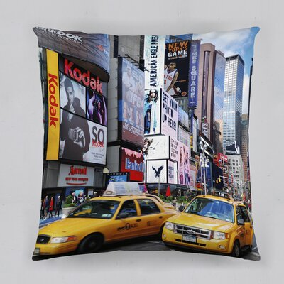 Big City Cotton Throw Pillow