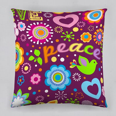 Peace Cotton Throw Pillow