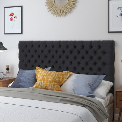 Mendenhall Upholstered Panel Headboard Upholstery: Dark Charcoal