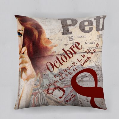 Octobre Glamour Cotton Throw Pillow