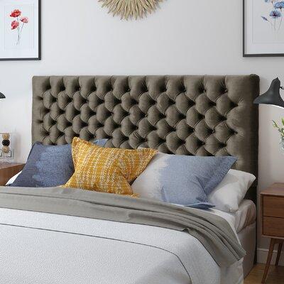 Mendenhall Upholstered Panel Headboard Upholstery: Gray