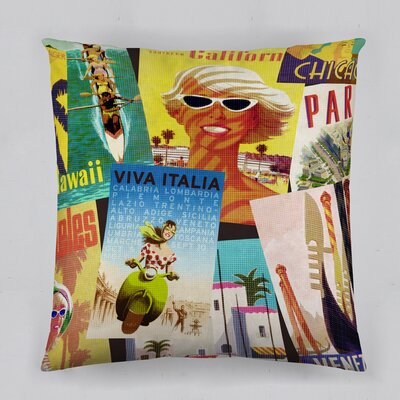 Travel Cotton Throw Pillow
