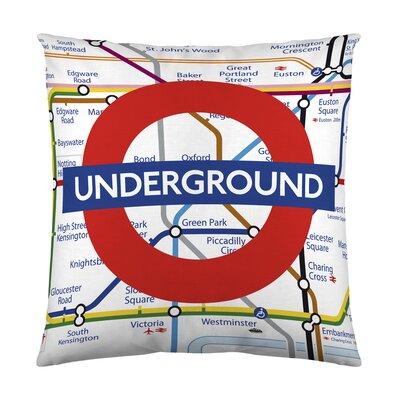 London Underground Map Cotton Throw Pillow