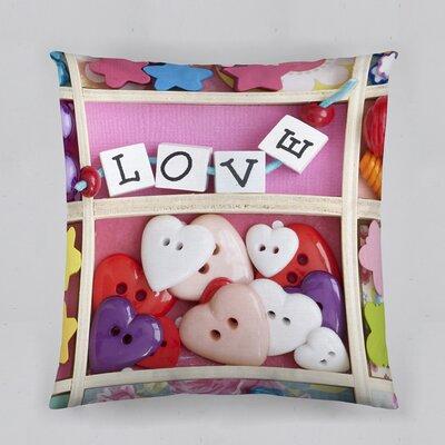 Love Beads Cotton Throw Pillow