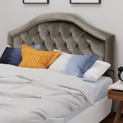 Niven�Upholstered Panel Headboard Upholstery: Gray