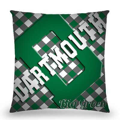 Dartmouth Big Green Cotton Throw Pillow