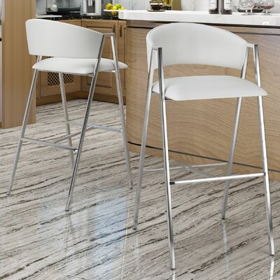 Ansaldi Modern 28 Bar Stool Color: Ivory
