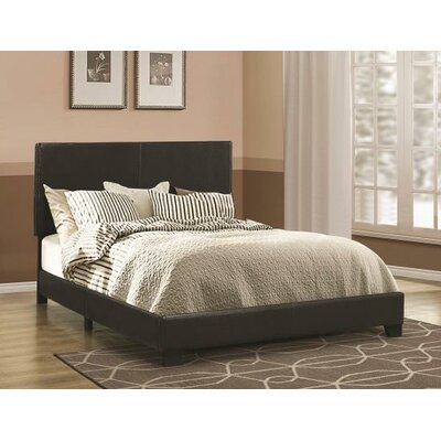 Bazzinotti Upholstered Panel Bed Size: Eastern King, Color: Brown