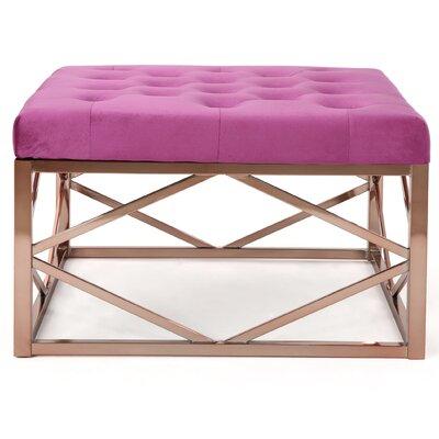 Hynes Modern Glam Tufted Ottoman Upholstery: Fuchsia