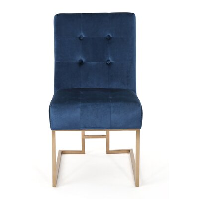 Waring Modern Side Chair Upholstery: Cobalt