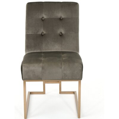 Waring Modern Side Chair Upholstery: Gray