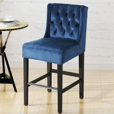 Kindig Modern 26 Bar Stool Color: Cobalt