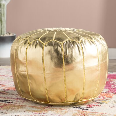 Clarkdale Pouf Upholstery: Gold