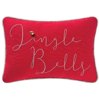 Finch Jingle Bells Cotton Lumbar Pillow
