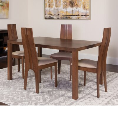 Huckabee 5 Piece Dining Set Color: Walnut