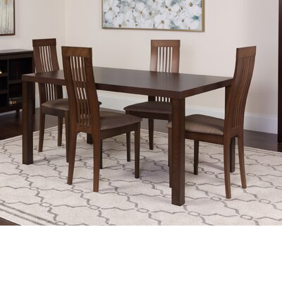 Huckins 5 Piece Dining Set Color: Espresso