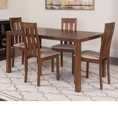 Huckstep 5 Piece Dining Set Color: Walnut