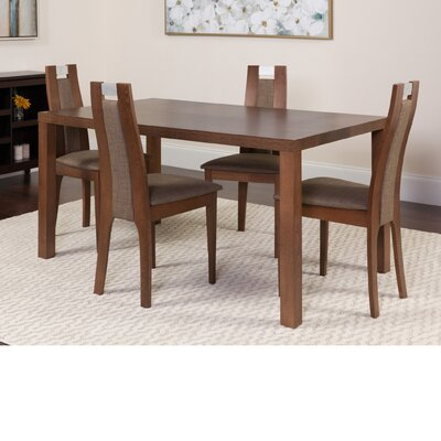 Hudak 5 Piece Dining Set Color: Walnut