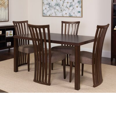 Huddleston 5 Piece Dining Set Color: Espresso