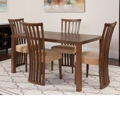 Huddleston 5 Piece Dining Set Color: Walnut