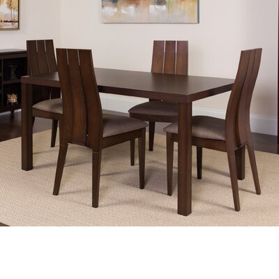 Hudgins 5 Piece Dining Set Color: Espresso