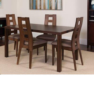 Hudkins 5 Piece Dining Set Color: Espresso