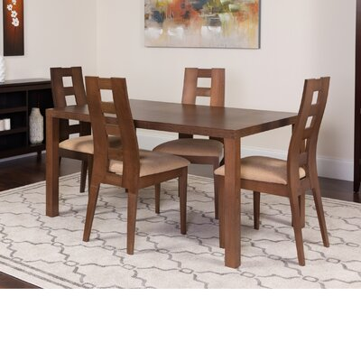 Hudkins 5 Piece Dining Set Color: Walnut