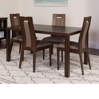 Hudnall 5 Piece Dining Set Color: Espresso