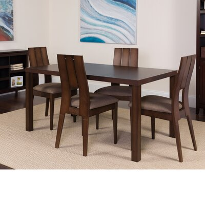 Hudock 5 Piece Dining Set Color: Espresso