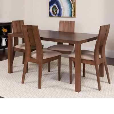 Hudock 5 Piece Dining Set Color: Walnut