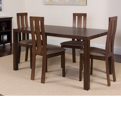 Hudson Square 5 Piece Dining Set Color: Espresso