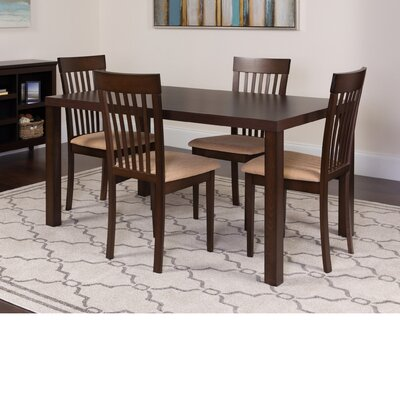 Hudson Yards 5 Piece Dining Set Color: Espresso
