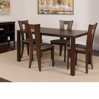 Hudspeth 5 Piece Dining Set Color: Espresso