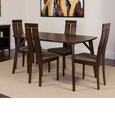 Huebner 5 Piece Dining Set Color: Espresso