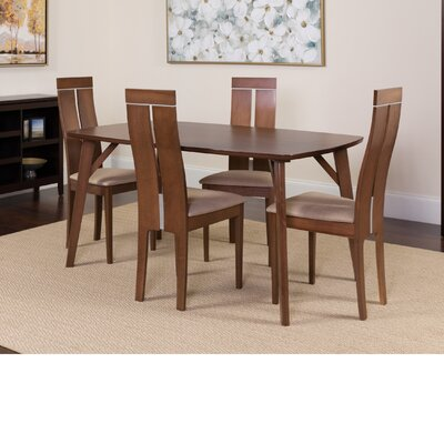 Huebner 5 Piece Dining Set Color: Walnut
