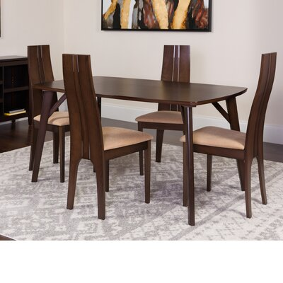 Huertas 5 Piece Dining Set Color: Espresso