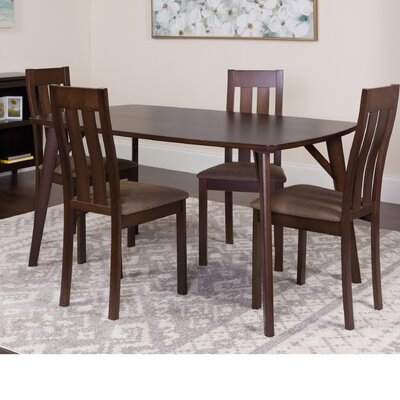 Huffine 5 Piece Dining Set Color: Espresso