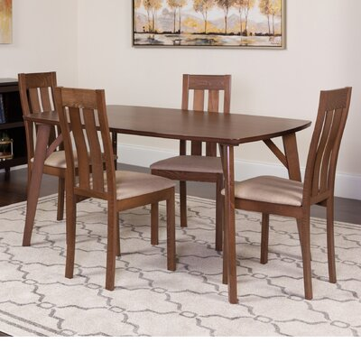 Huffine 5 Piece Dining Set Color: Walnut