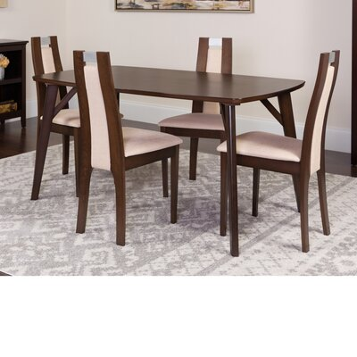 Hufford 5 Piece Dining Set Color: Espresso